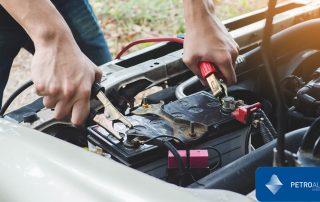 Pinzas para cargar la batería del coche