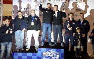 Rally la Nucía con Sebastián Moreno en podio